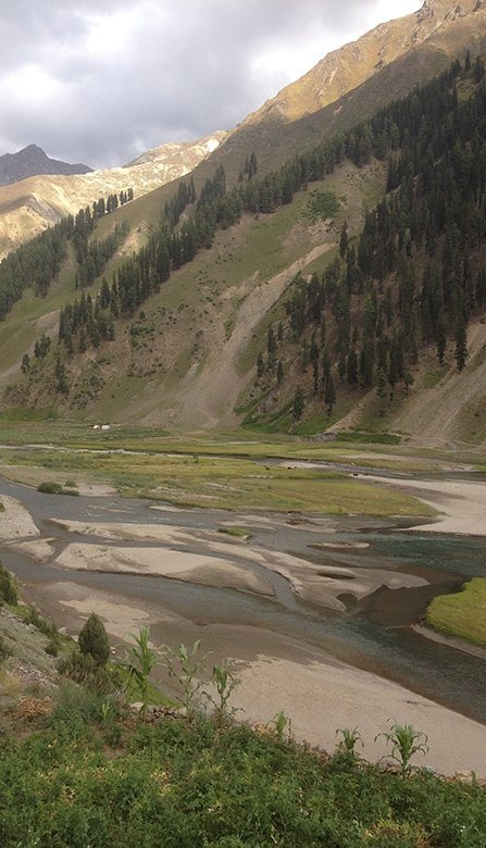 Beautiful view of Kunhar River