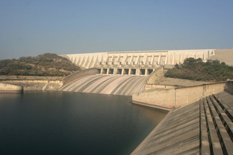 Mangla Dam Front View