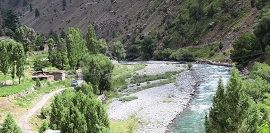 Astore River flowing in Shekong