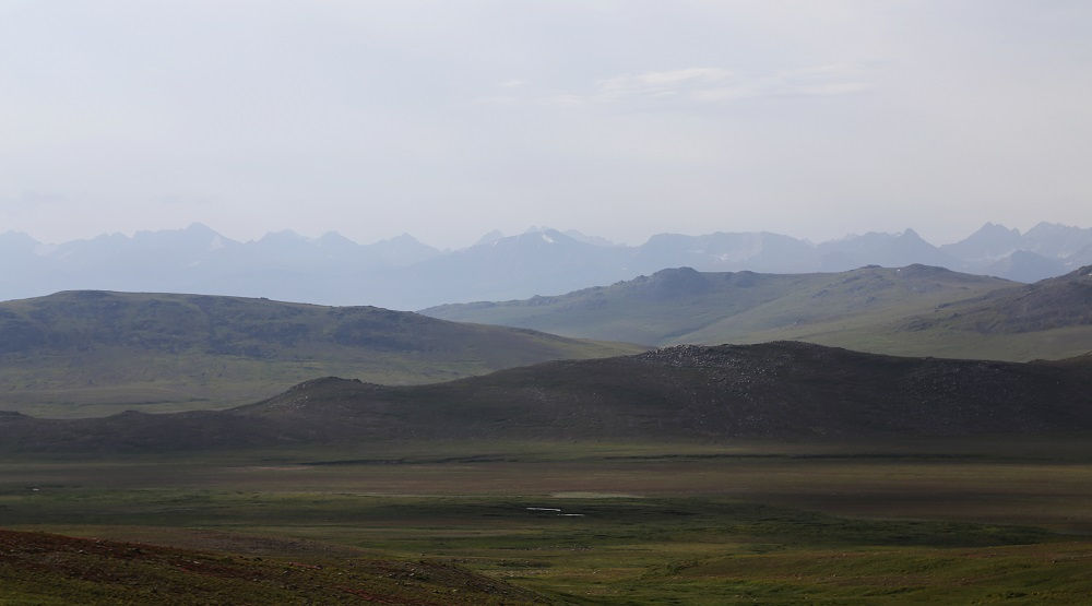 Deosai Plains among High Mountains
