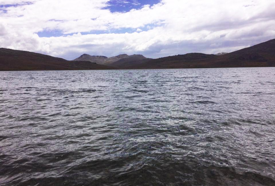 Sheosar Lake at the height of Deosai Plains