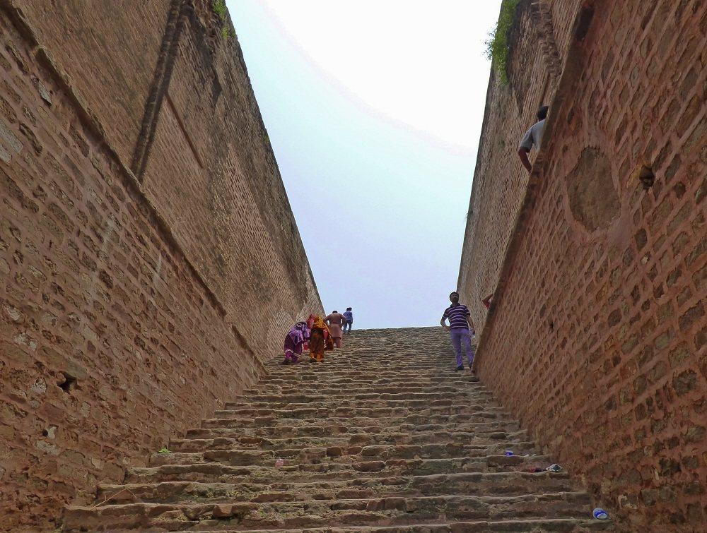 Stairs down to Well in Rohtas Fort