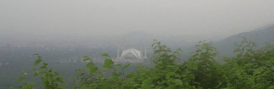 Faisal Mosque from Daman-e-koh