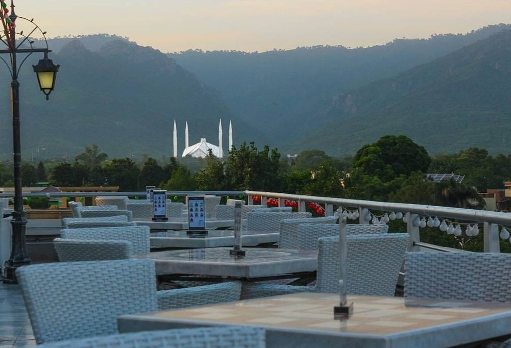 Faisal Mosque view from Monal