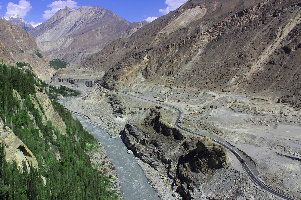 View of Hunza River from Altit Fort