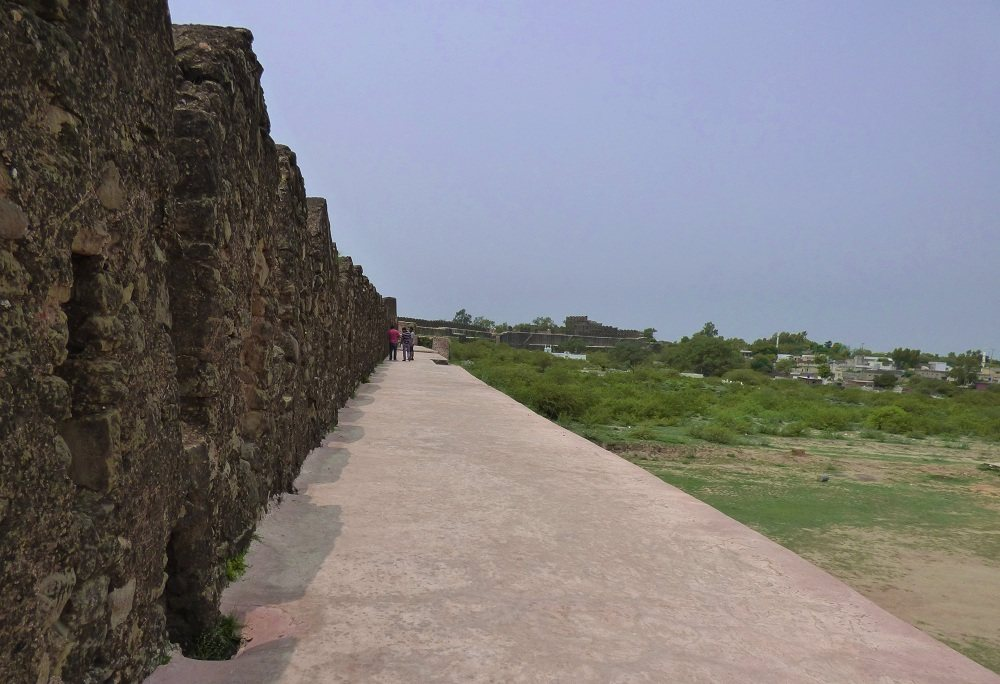 Inside Wall of Rohtas Fort