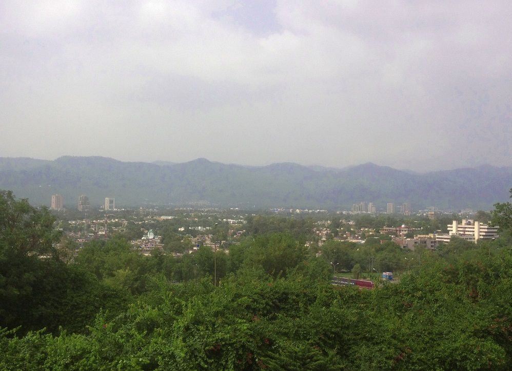 Islamabad city view from Pakistan Monument