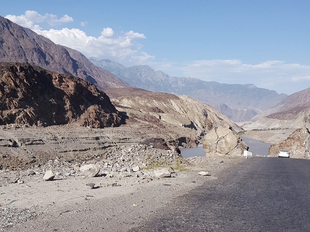 KKH near Riakot Bridge