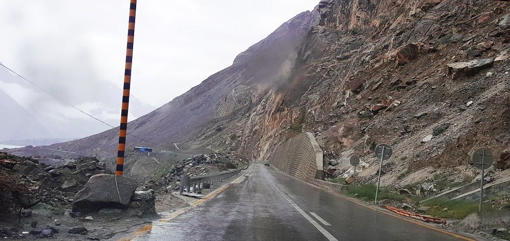 Rain near Attaabad Lake