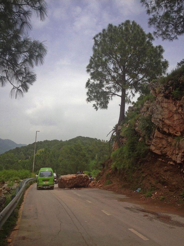 Landsliding near Pir Sohawa