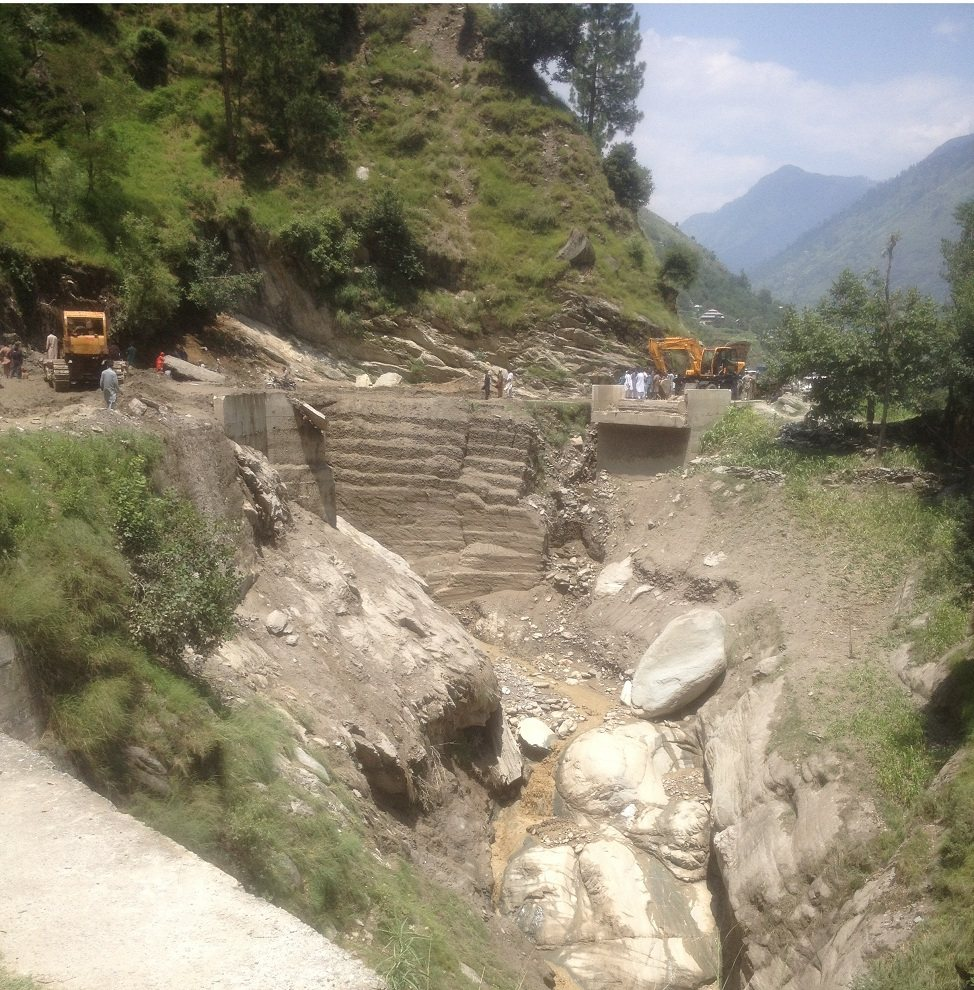 Landsliding in Neelum Valley