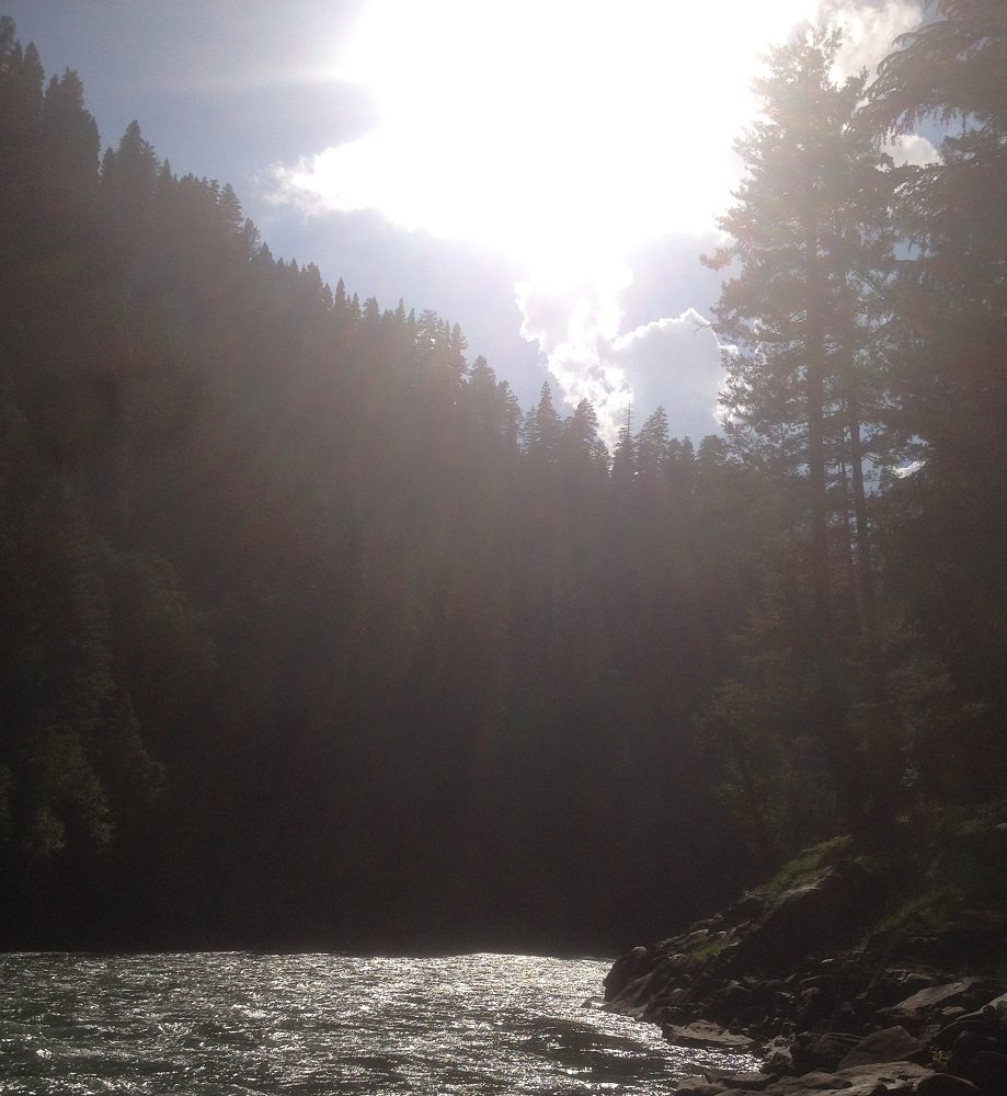 Morning view of Neelum River at Taobat