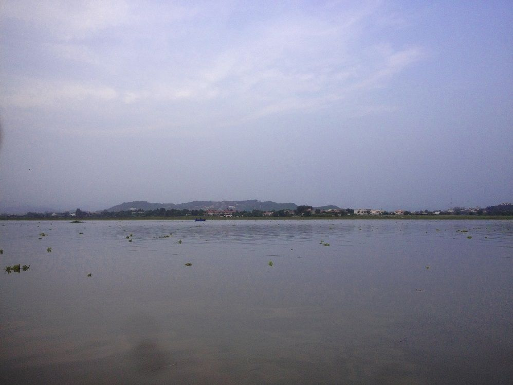 Bani Gala across Rawal Lake