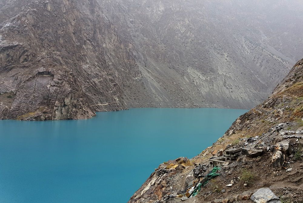 Attaabad Lake in High Mountains