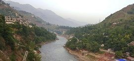 Neelum River crossing Muzzafarabad