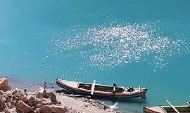 Beautiful View of Boat in Attabad Lake