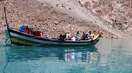 Travel through Boats in Attabad Lake
