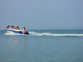 Boating in Mangla Dam Lake