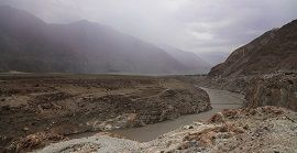 Confluence of Indus and Gilgit