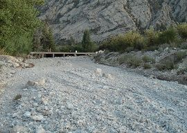 Dried stream near Quetta
