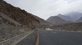 KKH along Indus River and Gilgit River