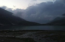 Lulusar Lake under Clouds