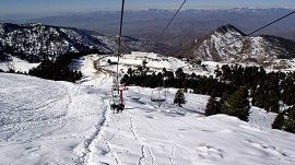 Chairlift at Malam Jabba