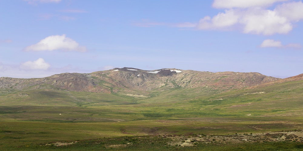 Snow Covered Tops in Deosai Plains