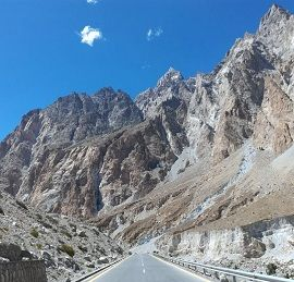 Road leads to Khunjerab Pass