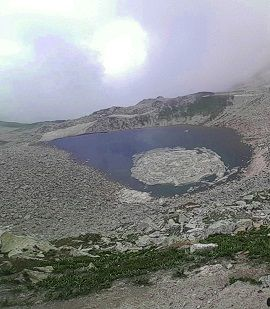 Eye shaped Ansoo Lake