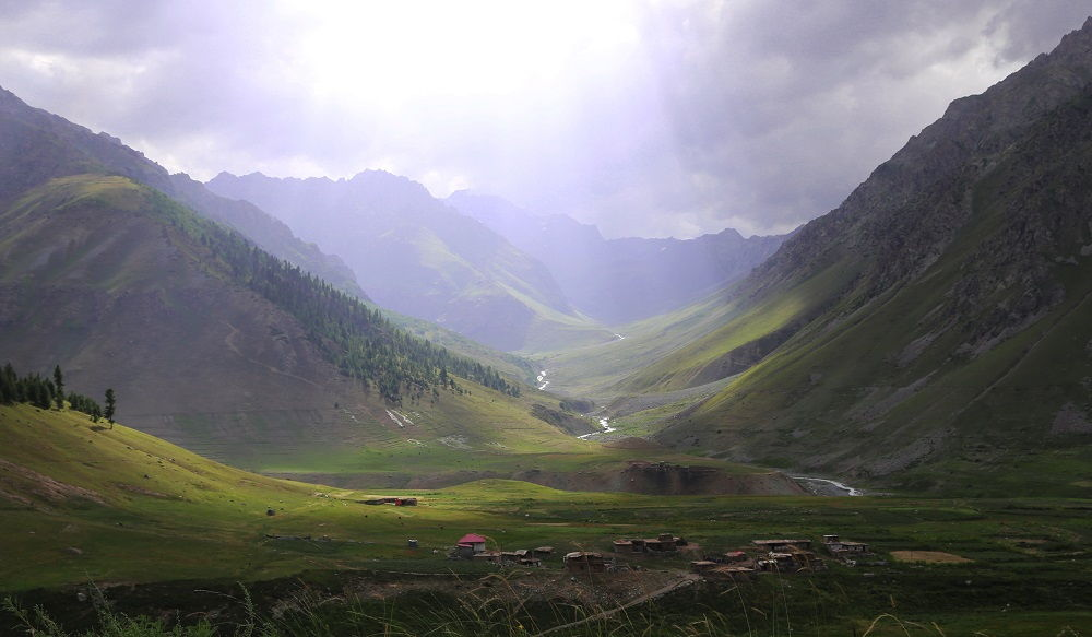 Village near Deosai Plains