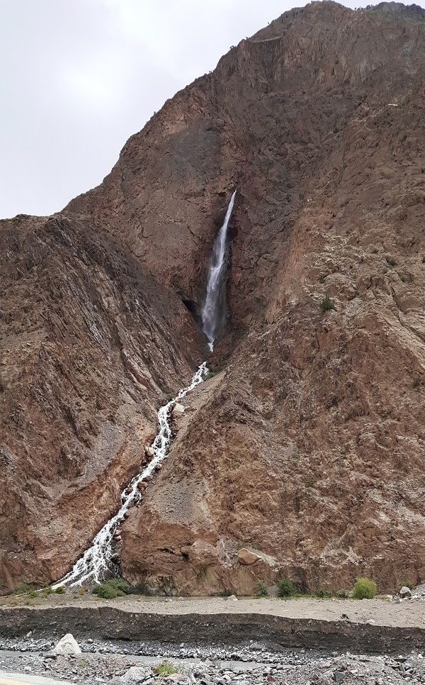 Beautiful Waterfall in Hunza