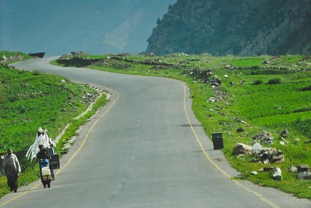 Coming Down from Babusar Top toward Chillas Side