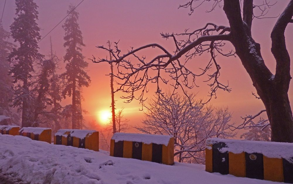 Sunset in Winter Season Nathia Gali